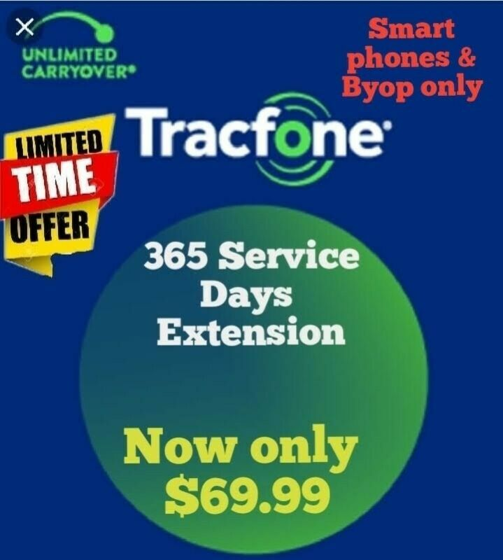Tracfone Days extensión/ TRACFONE 365 SERVICE DAYS ADDS ON