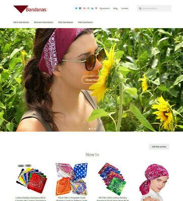Bandanas Website Business For Sale Affiliate Marketing Website For Sale