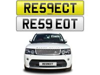 RESPECT cherished private personalised number plate car reg. RE59EOT