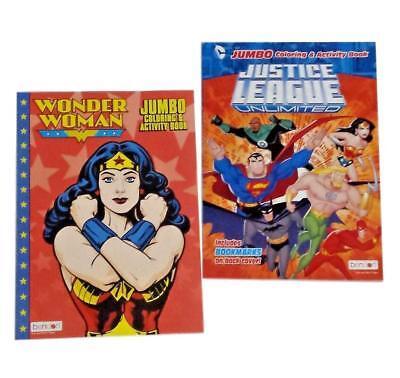 Wonder Woman Justice League Superhero Kids Coloring Book Activity Books Set of 2