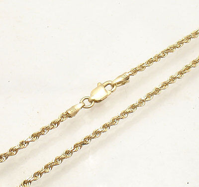 "10"" 2mm Diamond Cut Rope Ankle Bracelet Anklet Real Solid..."