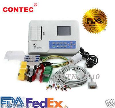 Contec Ecg300g 3 Channels 12 Lead Electrocardiograph Ecg Ekg Machine Pc Sw