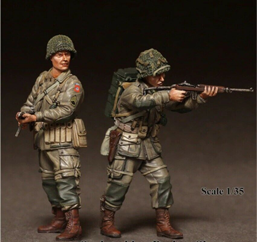 Unpainted Unassamb 1//35 Resin Figure Model Kit US Soldiers Vietnam War no tank