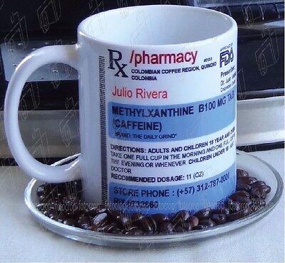 Name Coffee - Prescription Coffee Mug Personalized Name Custom Cup Mug 11 oz Ceramic White