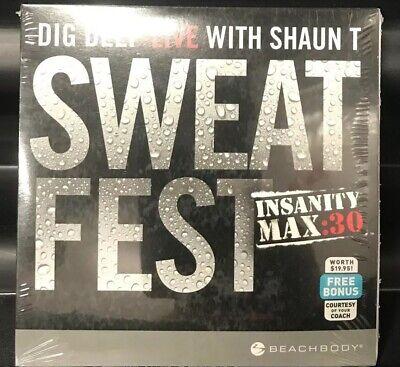 Sweat Fest SEALED! Beachbody Shaun T - Insanity Max :30 Bonus DVD - NEW!