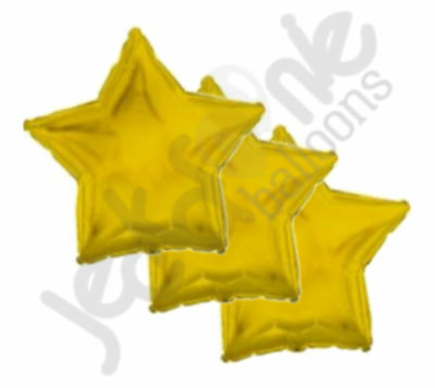 Gold Star Balloons (3 pc - 18