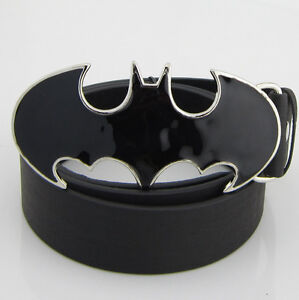 New Western Punk SuperHero Batman Black Mens Metal Belt Buckle Leather Gift