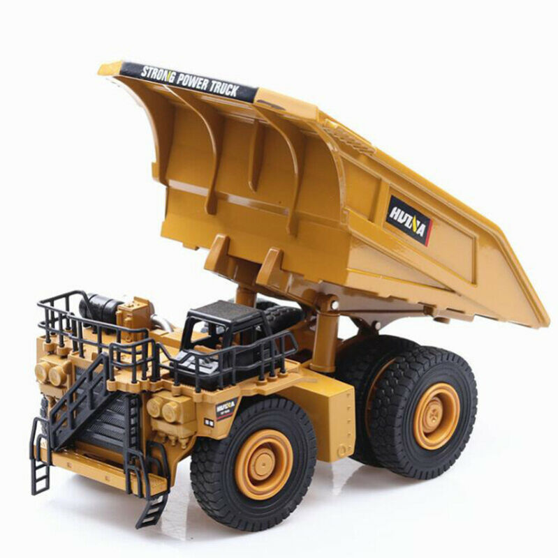1/40 truck model Die-cast alloy car Excavator Mining dump truck excavator model