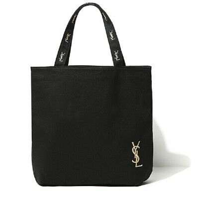 Yves Saint Laurent YSL Shopping Tote Bag Canvas Logo Black NEW Ships from USA - New Black Tote Bag