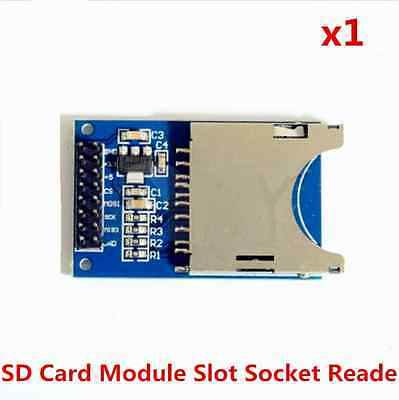 1pcs Sd Card Module Slot Socket Reader For Arduino Arm Mcu Read And Write
