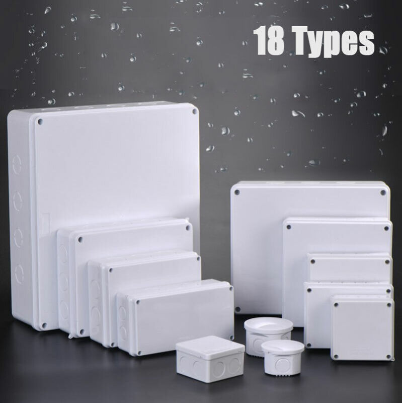 18 Size Waterproof Ip55 Abs Project Enclosure Case Wiring Junction Box Case New
