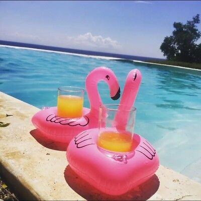 Summer Bird Cup Drink Holders Swimming Pool Party Holder Coasters Float 1/3/5Pcs (Pink Pool Floats)