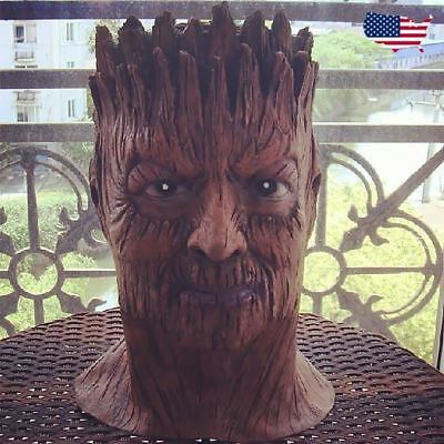 Groot tree guardians of galaxy Costume Latex Rubber Horror Scary Mask - Scary Trees