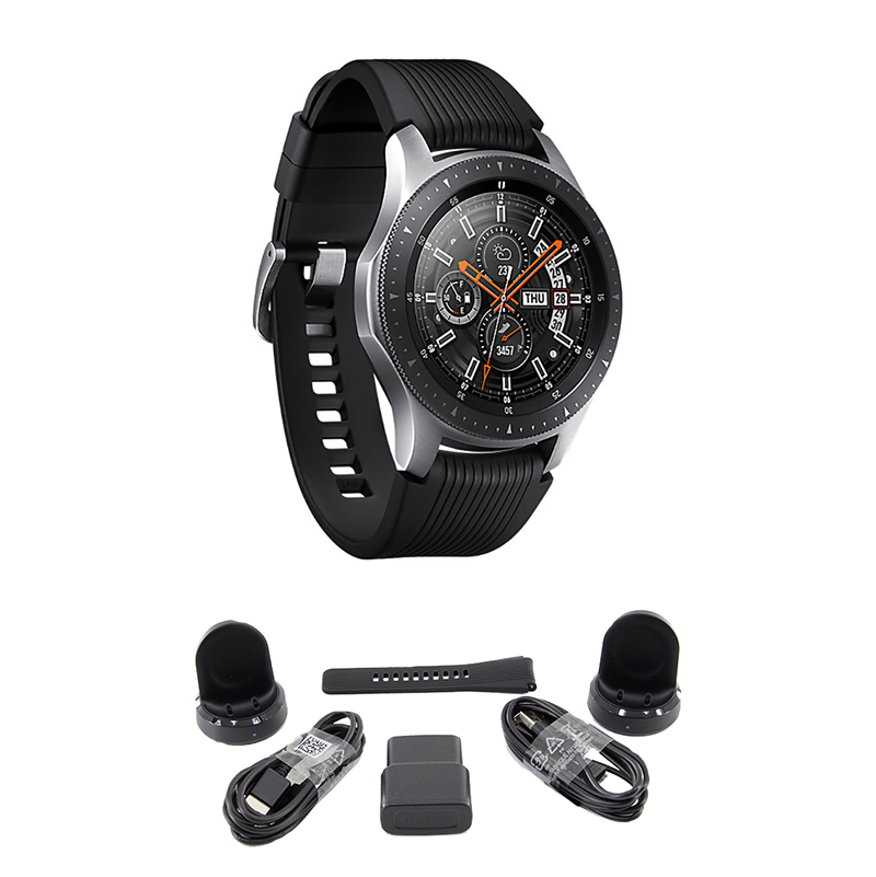 BUNDLE Samsung Galaxy Bluetooth Watch 46mm Silver SM-R800NZSCXAR -   10 - BUNDLE Samsung Galaxy Bluetooth Watch 46mm Silver SM-R800NZSCXAR