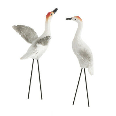 (Miniature Dollhouse FAIRY GARDEN - Sandhill Cranes - Set of 2 - Accessories)
