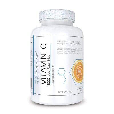 Rosa Vitamine (Pharmapure Vitamin C 1000mg with Rose Hips 100cps Vitamina con Rosa Canina)