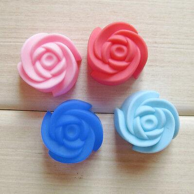 6Pc Set Rose Silicone Fondant Mold Cake Cupcake Flower Embossing Sugar Craft ZFW