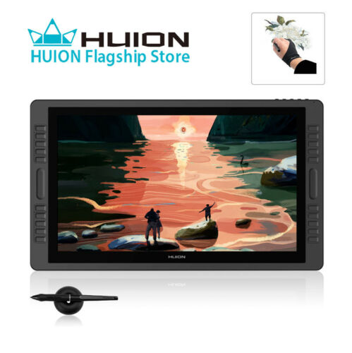 HUION KAMVAS Pro 22 Drawing Monitor Graphic Tablet 8192 Battery-free Pen 266PPS