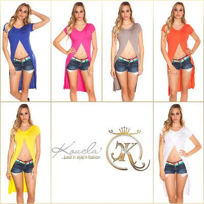 Top Shirt Oberteil XS S M 34 36 38 KouCla Sexy WendeCropShirt Highlow Wickellook online kaufen