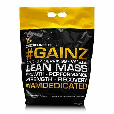Lean Gainer ((12,5€/kg) Dedicated # Gainz, Lean Mass 4kg, Gainer, Masse, Oats 28% Protein)
