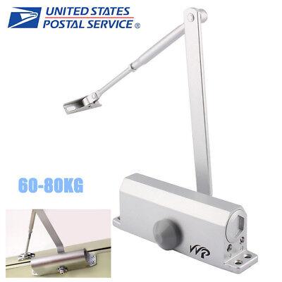 60-80kg Durable Aluminum Commercial Door Closer Two Independent Valves Control