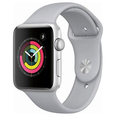 Apple Watch Gen 3 Series 3 38mm Silver Aluminum - Fog Sport Band GPS MQL02LL/A