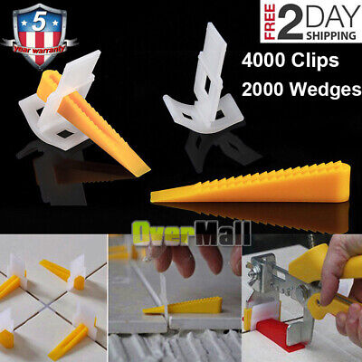 - 600-6000 Reusable Tile Leveling System Clips Wedges Wall Floor Spacers Tilling