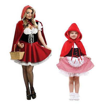 Little Red Riding Hood Fairytale Storybook Costume Girls Ladies Book Day Week (Little Red Riding Hood Little Girl Kostüm)