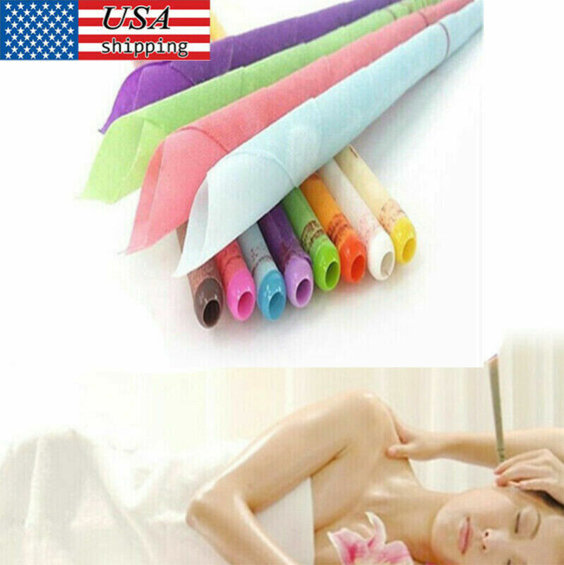 10x Ear Wax Cleaner Removal Coning Fragrance Candles Healthy Hollow Cleaning Set