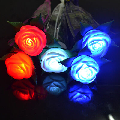 Light Up Rose Valentine's Wedding Mothers Day Glowing Flower Toy LED Gift - Light Up Roses