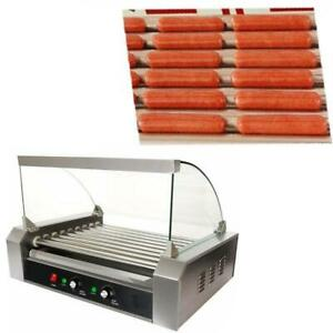 Stainless Steel Hot Dog 9 Roller Grilling Machine #021250