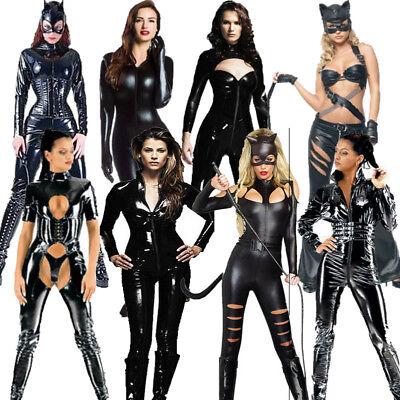 Sexy Ladies PVC Catsuit Faux Leather Spandex Lyrca - Spandex Catwoman Kostüme