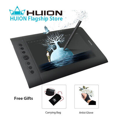 Huion H610 PRO Graphic Drawing Painting Tablet 8192 Pen Pressure 10×6.25'' US
