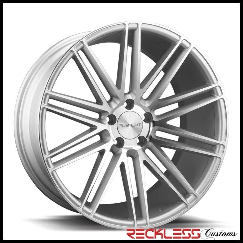 "Element 20"" El10 Silver Concave Wheels Rims Fits Honda Accord Coupe"
