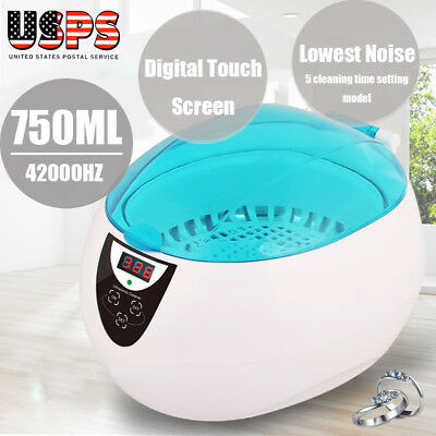 750ml Sterilizer Ultrasonic Jewelry Watch Dental Cleaner Tool Disinfect Machine