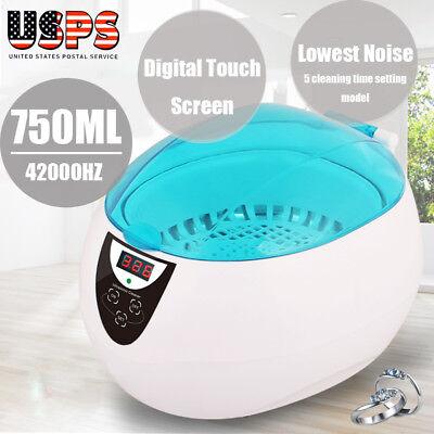 750ml Sterilizer Ultrasonic Jewelry Watch Dental Cleaner Tool Disinfect Machine