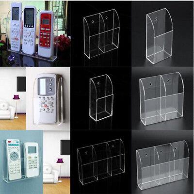 TV Air Conditioner Remote Control Holder Case Acrylic Wall Mount Storage Box M