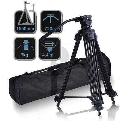 FC-270A Pro Photography Heavy Duty DV Video Camera Tripod w/ Fluid Pan Head Kit