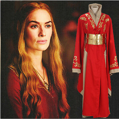 Custom-Made Game Of Thrones Queen Cersei Lannister Cosplay Costume Women Dress