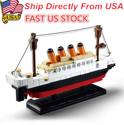 194 pcs Titanic Building Blocks Kids Toy for Children Gift Toys New DIY