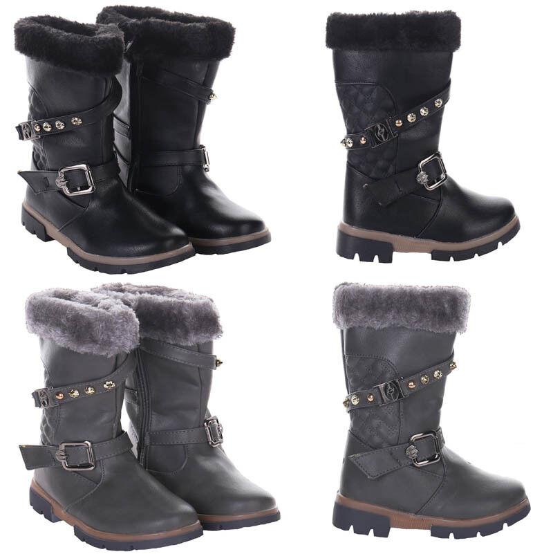 Girls Pink Zip Fastening Fleece Lined Winter//Snow Boots Size UK 7 Infant