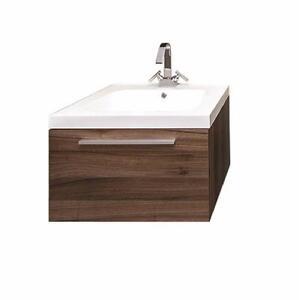 Vanité 1 tiroir Luxo Marbre, suspendue, avec lavabo blanc