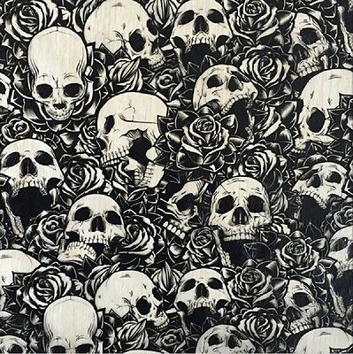 Hydrographic Water Transfer Hydrodipping Film Hydro Dip Rose Skull 1m