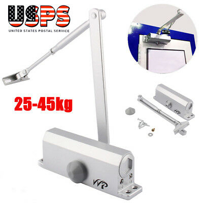 25-45kg Aluminum Commercial Door Closer Two Independent Valves Control Sweep Hot