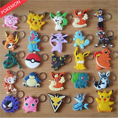 Pokemon PVC Keychain Pikachu KeyChain Keyring Pendant Ornament Toy Gifts ](Pokemon Ornaments)