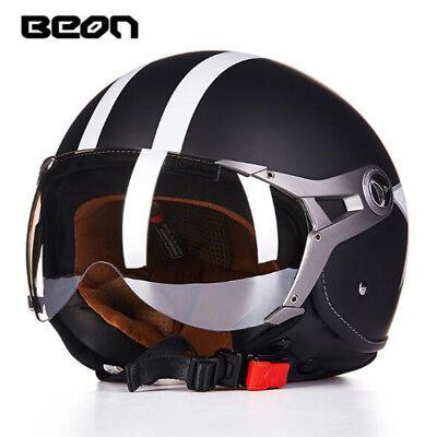 BEON B-100HL Open Face Helmet ABS Motorcycle Helmet ECE Drop Down Sun Visor 100 Open Face Helmets
