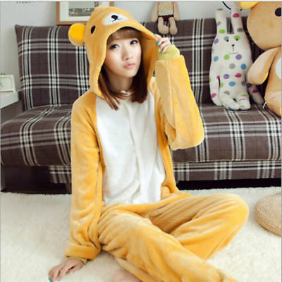 Hot Rilakkuma Unisex Kigurumi Pajamas Animal Cosplay Costume Onesieo - Rilakkuma Costume