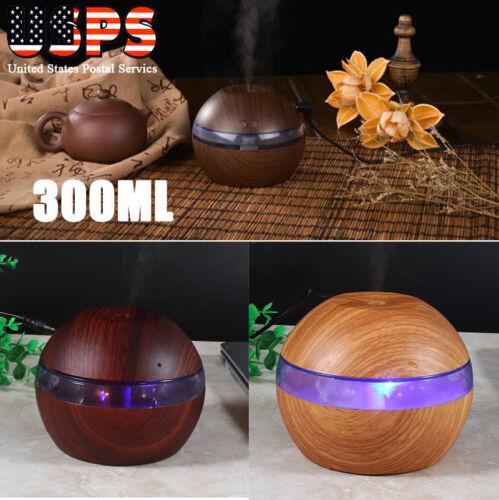 300ml cool mist ultrasonic humidifier led aroma