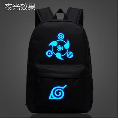 Anime Naruto Sharingan Canvas Luminous Backpack Students School bag Travel bag