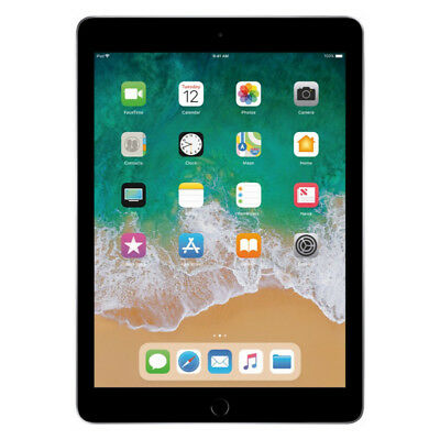 "Apple 9.7"" iPad 6th Gen 32GB Space Gray Wi-Fi MR7F2LL/A 2018"